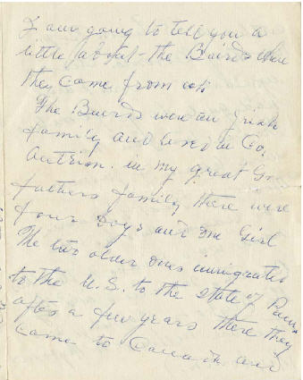 <I>Baird:</I> Family History, letter from George A. Baird to Melvin Dale Stewart and Velma May Fox Stewart