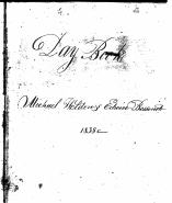 <I>Fox</I>: Fox and Bessonett brickmaking business daybook #1, Natchez, Mississippi, 1838