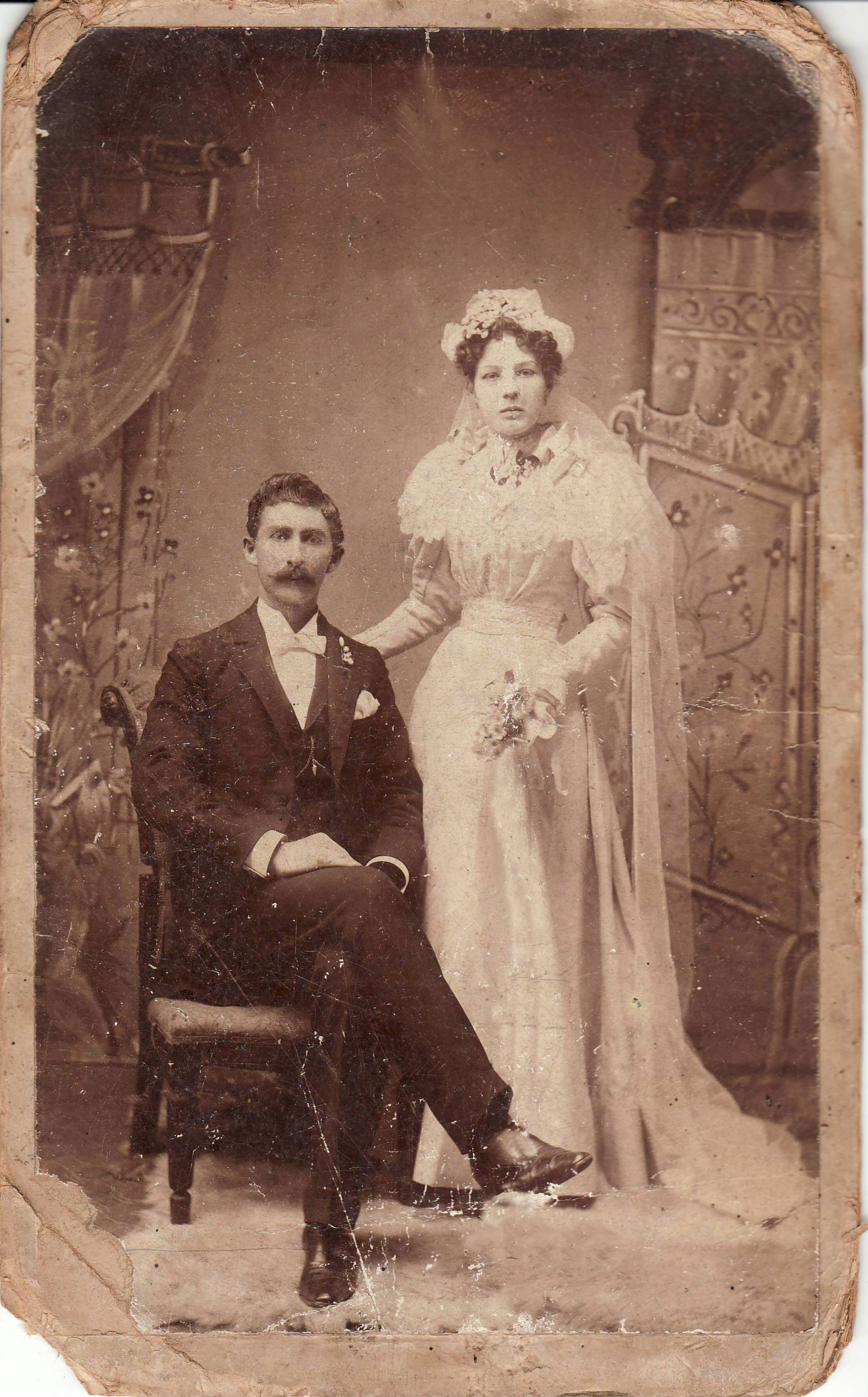 <I>Fox:</I> Irene Amanda (Smith) Fox, and James Alfred Fox, 1896, Natchez, Mississippi